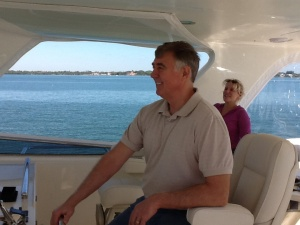 Randy and Theresa on the Marlow flybridge
