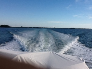 a 2000 horsepower wake at 24 knots
