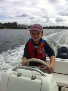 Ryan driving dinghy