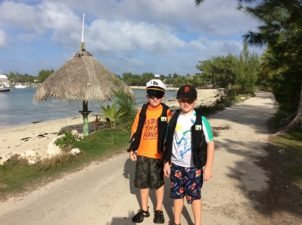 R&R hiking in Little Harbor, Great Abaco Island, Bahamas