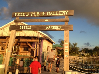 Pete's Pub Dock, Little Harbor, Great Abaco, Bahamas