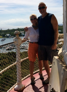 Theresa & Randy atop the Hope Town Light House