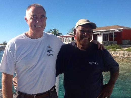 Randy & Mr. Roosevelt Nixon at Famers Cay Yacht Club