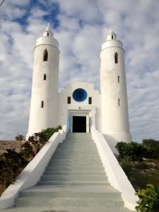 One of the two churches built by Father Jerome, Clarence Town, Long Island, Bahamas