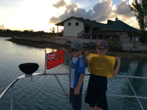 R&R on flag duty hoisting the Turks & Caicos courtesy flag