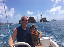 Randy & Patton in front of the Indians, British Virgin Islands
