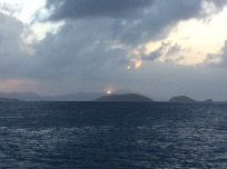 Sun setting over St. Thomas, U.S.V.I.
