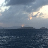 Sun setting over St. Thomas, U.S.V.I.