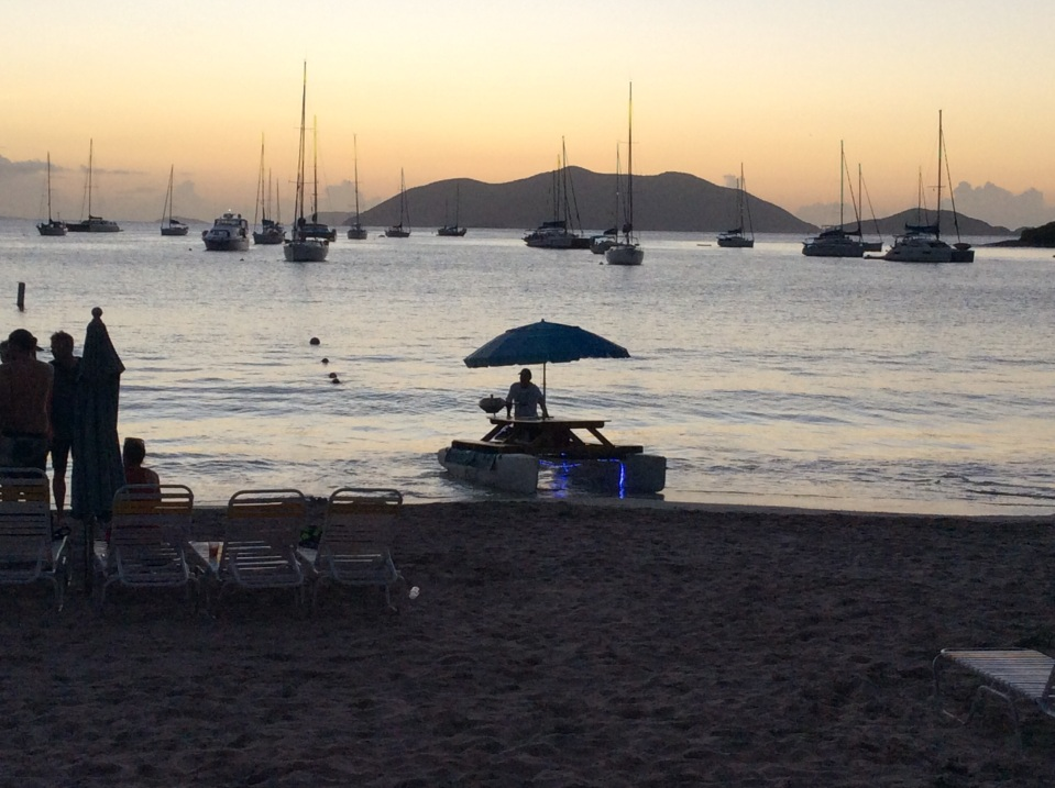 Picnic table pontoon, Cane Garden Bay, Tortola,BVI