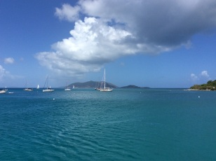 Cane Garden Bay, Tortola, looking towards Jost Van Dyke, BVI