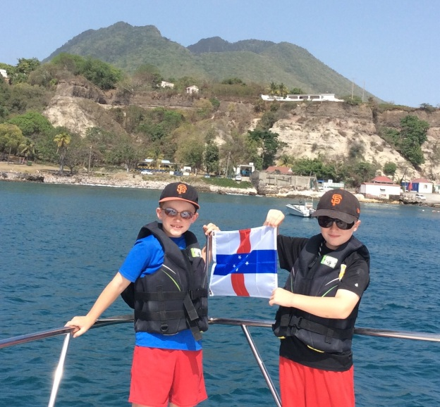 Statia courtesy flag