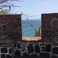 Fort Oranje, view towards Pilot's Discretion in the Bay below