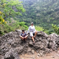 R&T on the Quill volcano crater rim