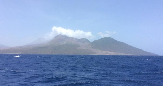 Montserrat active volcano ash & lava flow