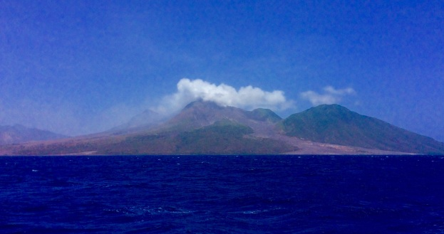 Montserrat, active volcano