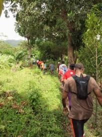 Grenada Hash hike - some people walked