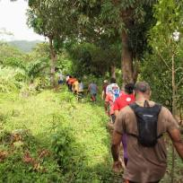 Grenada Hash hike - some people walked