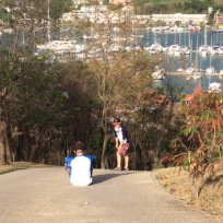 R&R hiking the mound, Port Louis, Grenada