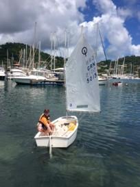 Ronan sailing out GYC
