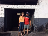 Patti & Chuck exiting the rum factory