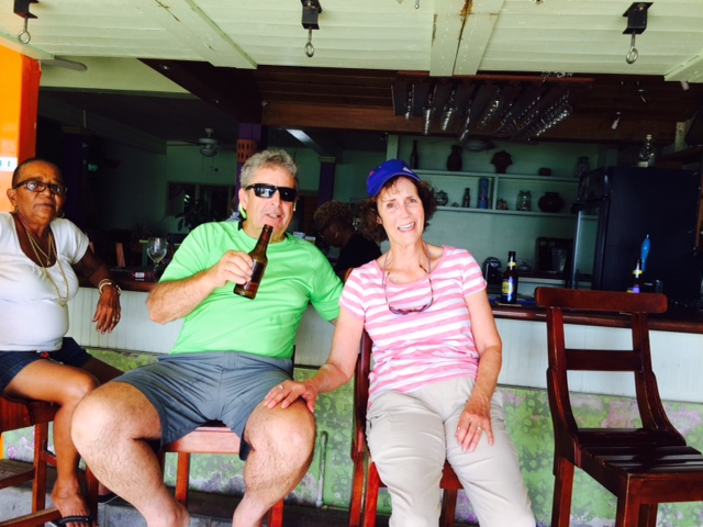 Patti & Chuck at Coconuts, Grand Anse Beach