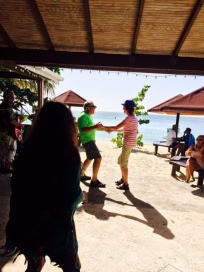 Patti & Chuck dancing at Coconuts, Grand Anse Beach