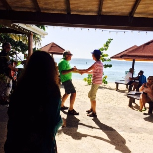 Patti & Chuck dancing at Coconuts, Grand Anse Beach