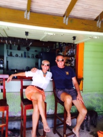 Theresa & Randy at Coconuts, Grand Anse Beach