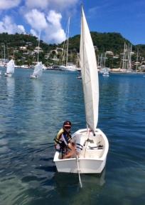 Ryan sailing out GYC