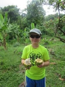 Ronan with Cocoa Pod
