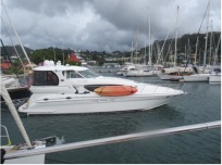Pilot's Discretion Departing Port Louis Marina, Grenada