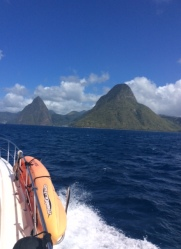 Cruising Past the Pitons, St. Lucia