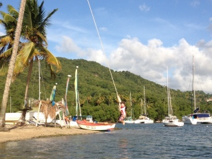 Ronan on the Rope Swing, Marigot Bay, St. Lucia