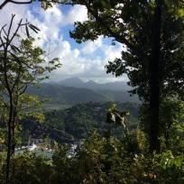 Ryan & Ronan on the Meditation Platform - The Views Were Worth the Climb, Marigot Bay Hike, St. Lucia