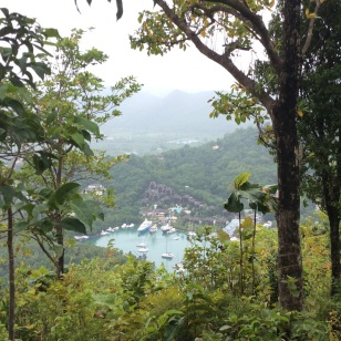 The Views Were Worth the Climb, Marigot Bay, St. Lucia