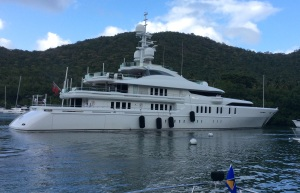 M/V Talisman, Cruising Past Our Bow, Marigot Bay, St. Lucia