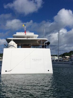 Cruising Into Rodney Bay, St. Lucia Astern Steve Jobs's M/V Venus