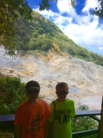 R&R at the Sulphur Springs, St. Lucia