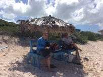 Mike, Patton & Randy, Loblolly Beach, Anegada, BVI