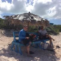 Mike, Patton & Randy, Loblolly Beach, Anegada, BVI