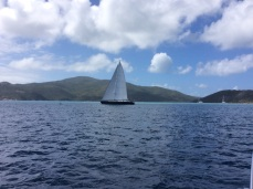 Cruising into North Gorda Sound, Virgin Gorda, BVI