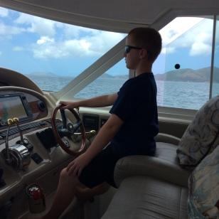 Ronan at the helm, BVIs