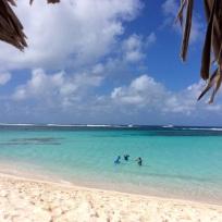 Mike, Madison & Bridget snorkling, Loblolly Beach, Anegada, BVI