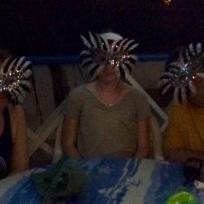 Bridget, Madison & Mike, Full Moon Part at Foxy's Taboo, Jost Van Dyke, BVI