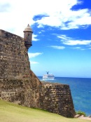 Old meets new, El Morro, Old San Juan, PR