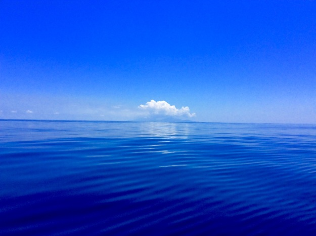 Calm Caribbean Sea on route to Antigua
