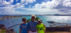 Ronan, Theresa, and Ryan, Marigot Bay, St. Martin