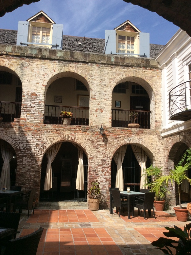 Georgian Architecture Arches in the Courtyard in the Old Copper & Lumber Store which now houses a Hotel & Restaurant, Nelson's Dockyard, Antigua
