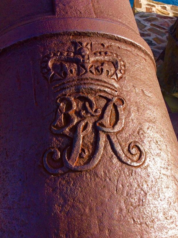 British Insignia on Cannon, Fort Berkeley, English Harbor, Antigua