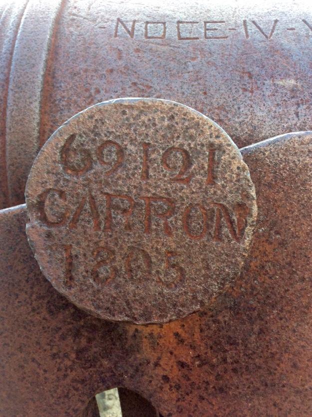 1805 Cannon Stamp, Fort Berkeley, Antigua